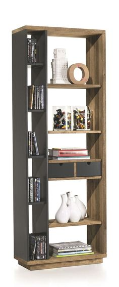 Grandes et petites étagères deviennent une bibliothèque design !