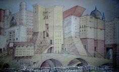 1994 CA'diMARE-cartone cm. 70 x 100 .1 dettaglio by Brunetto De Batté