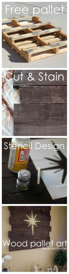 Ever wondered how to make pallet art? Double click for a tutorial. :) #DIY iheartnaptime.net