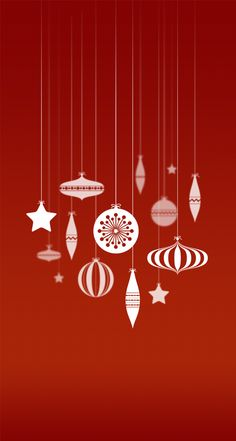 Christmas Baubles Wallpaper for iPhone 5/5c/5s by Daniel Martyn, via Behance