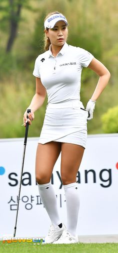 Surprising All About Ladies Golf Ideas. Unutterable All About Ladies Golf Ideas. Girl Golf Outfit, Cute Golf Outfit, Sexy Golf, Girls Golf, Ladies Golf, Golf Attire, Golf Player, Womens Golf Shoes, Golf Fashion