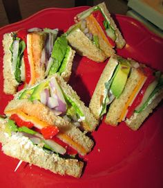 Veggie Club Sandwich with Parmesan Peppercorn Dressing