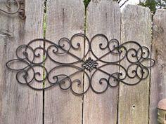 Metal Wall Decor,Wrought Iron,Indoor / Outdoor / Shabby Chic Decor. $38.50, via Etsy.