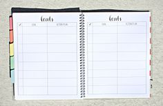 The Sorority Planner >>> GOALS - Every sorority woman is a goal setter so we gave you 6 pages with lots of room to write up all the goals you have each semester. Use a page for your officer position, another page for your sorority formal or use each line for something completely different!