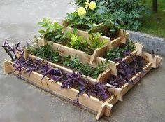 Tiered raised garden bed.