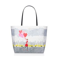 10 Fun Tote Bags We Love - Cute and Colorful Totes for Women - Kate Spade New York - $198, katespade.com. Don't miss this Kate Spade tote if you're looking for a bag that stands out. Canvas stands up to daily wear, and it's detailed with an adorable New York print. A top zip closure keeps belongings extra secure. Click through redbookmag.com for more tote bags you'll want to add to your shopping wish list.