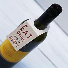 Set Of Four Christmas Wine Bottle Labels