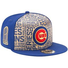 5f2e7b52e228c Chicago Cubs 2016 World Series Champions Gold Collection 9FIFTY Snapback Hat   ChicagoCubs  Cubs
