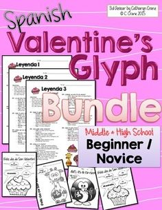 Spanish Valentine's Day (Día de San Valentín): Celebrate with a fun set of reading and coloring activities for beginning middle and high school Spanish students. By Sol Azúcar