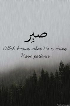 patience and allah image