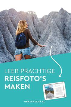 Reisfotografie: zo maak je de allermooiste reisfoto's. Of je nu in Nederland blijft of naar de andere kant van de wereld op vakantie gaat. Dit boek staat boordevol fotografie tips en foto inspiratie hoe je tijdens het reis prachtige foto's maakt van landschappen, dieren, mensen, natuur, cultuur.