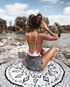 "12.6k Likes, 260 Comments - Michèle Krüsi (@thefashionfraction) on Instagram: ""Just imagine it's a white sand beach"""