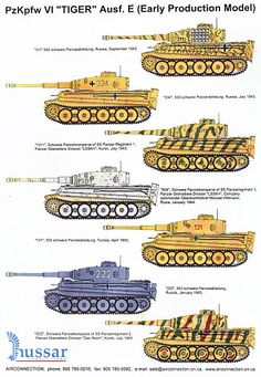 Tiger Tank Camouflage Patterns | S04 of Wittmann and I belive 1311 was his too.