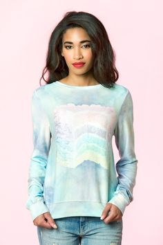Wildfox Couture Dreaming of Cake Baggy Beach Jumper - Multi $128