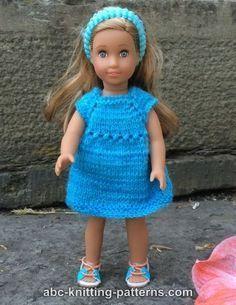 ABC Knitting Patterns - American Girl MINI Doll Sundress