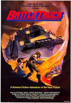Battle truck (1982) Sci-fi/Wasteland Fiction Movies, Sci Fi Movies, Old Movies, Science Fiction, Fantasy Movies, Watch Movies, Fantasy Art, Original Movie Posters, Movie Poster Art