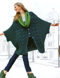 Items similar to Tricoture Cardigan on Etsy Italian Fashion, Italian Style, Gilet Long, Made Clothing, Knitted Poncho, Knitting For Beginners, Beautiful Patterns, Scarf Wrap, Knitwear