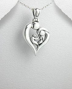 Mothers Day Sterling Silver Mother Father 2 Children Family Pendant Necklace....Our regular Retail is $37, but Today you can get this Best Seller for only $19.95 .....this Sale Positively ends at midnight...did we mention you get Free Shipping  Free gift Box as well? You bet....Enjoy.