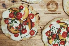 Loving this peach & tomato pizzetta this summer!