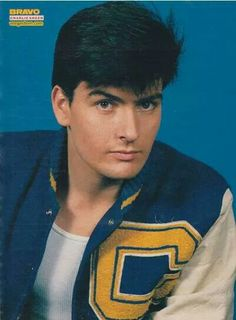 Pin by ann karin hammer on 41 young handsome actor charlie sheen charlie sheen throwback in times thecheapjerseys Images
