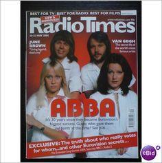 ABBA. Magazine Radio Times & Cover May 2004; Eurovision Waterloo Mamma Mia SOS