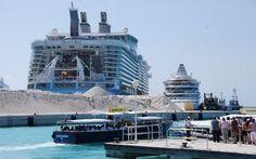 Oasis od the Seas und AIDAvita vor St. Marteen / Karibik