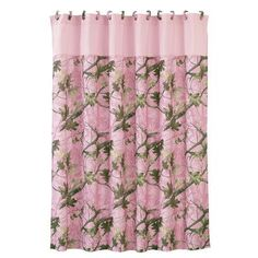Your favorite pattern meets your favorite color in the HiEnd Accents Pink Oak Camo Polyester Shower Curtain . This pink camouflage shower curtain comes.