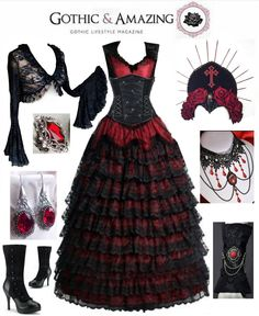 Dress: Sinister from The Gothic Shop Corset: The Violet Vixen Bolero: Sophie And Her Store Headpiece: Pendulous Threads UK Necklace: Rosalyn Gothic Jewelry Ring & earrings: Midnight Vision...