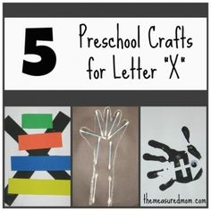 5 Letter X Crafts - The Measured Mom