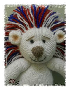 Perry the patriotic lion - knit by Phoeny