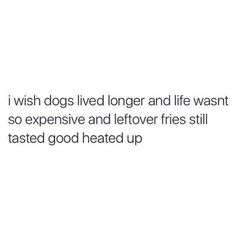 Especially the fries thing