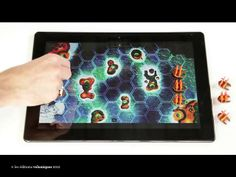 Pirates vs Tentacles by Edition Volumique.  Tablet boardgame with pirate fleets fighting and competing to reach their destination first.  Players must explore islands, gather resources and find treasure to bring home.
