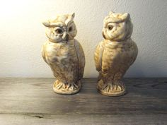 A cool Valentines gift!!  Vintage Ceramic Owls  Set of 2  Norleans Japan by ZenDenVintage, $34.00
