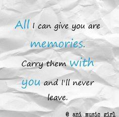 #memories #carry #friendship #paper