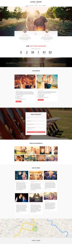 Buy Lovey Dovey - Responsive WordPress Wedding Theme by vafpress on ThemeForest. Lovey Dovey is a responsive WordPress wedding theme. Web Design, Lovey Dovey, Wedding Website, Special Day, Everything, Wordpress, Website Web, Make It Yourself, Crafts
