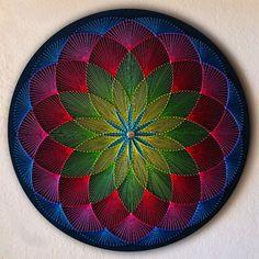 Mandala Flor Mística no Elo7 | Fabrício String Artist (12F4C02) Mandala Art, Mandala Design, Lotus Mandala, String Art Tutorials, String Art Patterns, Hilograma Ideas, String Wall Art, Meditation Art, Zen Art