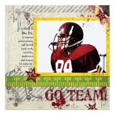 Go Team! Digital Scrapbook Layout from Creative Memories