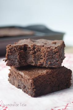 Brownie con chips de chocolate