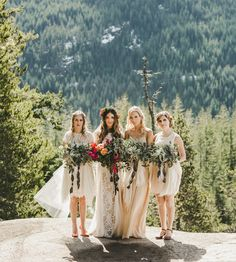 Candice-May + Christopher's Intimate Wedding in the Canadian Mountains | Green Wedding Shoes