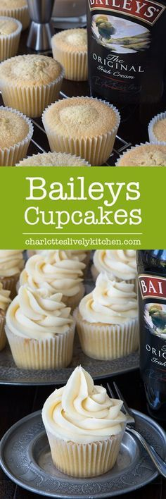 These Baileys cupcakes are so simple to make there's really no excuse not to. Perfect topped with Baileys buttercream and perhaps a hidden Baileys truffle centre too! Cupcake Recipes, Baking Recipes, Cupcake Cakes, Dessert Recipes, Köstliche Desserts, Delicious Desserts, Yummy Food, Baileys Recipes, Yummy Cupcakes