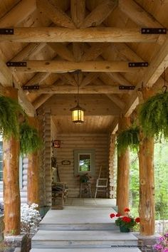 Outdoor Photos Log Cabin Design Ideas, Pictures, Remodel, and Decor - page 10