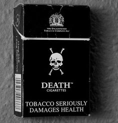 Death cigarettes by UK entrepreneur BJ Cunningham.a brand of cigarettes sold in the United Kingdom from 1991 to The Wicked The Divine, Smoking Kills, Anti Smoking, Stop Smoke, Prince, Up In Smoke, Branding, Tumblr, Skull And Bones