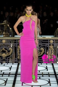 Long dress fluo Atelier Versace