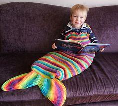 Ravelry: Splash. Mermaid Tail Snuggly Cocoon/Blanket pattern by Karen Ashton-Mills