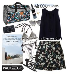 """Pack and Go: Greek Islands"" by rasa-j ❤ liked on Polyvore featuring Dolce&Gabbana, Violeta by Mango, Miss Selfridge, Paolita, Fujifilm, Billabong, Elena Votsi, Kate Spade, womenfashion and Packandgo"