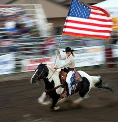 What a sight....This shall be my Ella Hayes soon enough. I know she will be so proud to ride that flag around the arena...