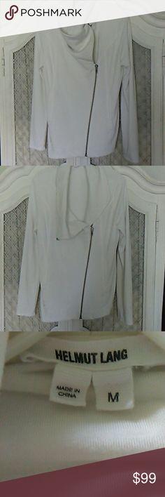 "Helmut Lang jacket. Super soft jersey. Asymmetrical modern look. 19"" Armpit across. 27"" length. Helmut Lang Jackets & Coats"