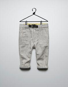 pants to go w/ sports coat  lined herringbone trousers - Trousers - Baby boy (3-36 months) - Kids - ZARA United States