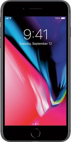 a68bb3152e41d Apple - iPhone 8 Plus 256GB - Space Gray (AT T)