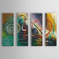 Cool Abstract Oil Painting - Set of 4 - Free Shipping